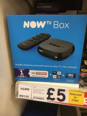 Now TV Box with 1 month Sky Cinema Pass £5 @ Tesco