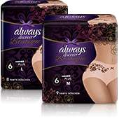 Always Discreet - choose your free sample
