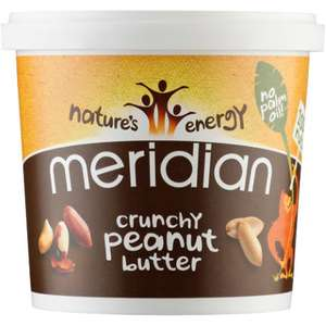 Meridian Smooth and Crunchy Peanut Butter 454g now £2 @ Asda