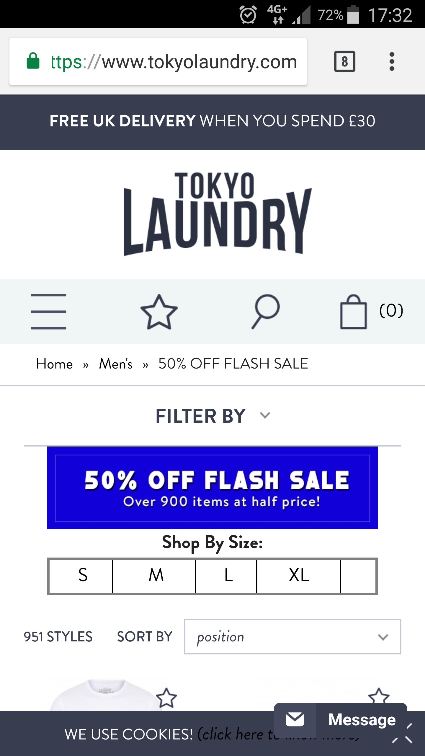 Tokyo Laundry Flash Sale