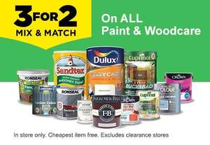 Homebase all paint & woodcare - 3 for 2