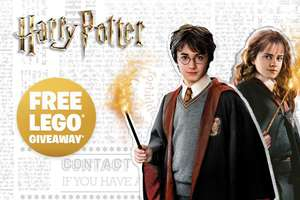 Free Lego giveaway 25th August - Harry Potter Event @ Smyths instore