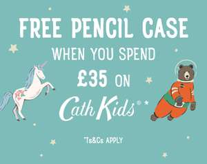 FREE Pencil case when you spend £35 on Cath Kidston