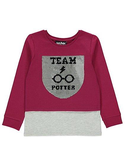 Harry Potter Kids Swipe Sequin Burgundy Sweatshirt Reduced to £6 Sizes ages 4-5, 5-6, 6-7, 7-8, 8-9, 9-10. 10-11 & 11-12yrs Free C&C @ Asda