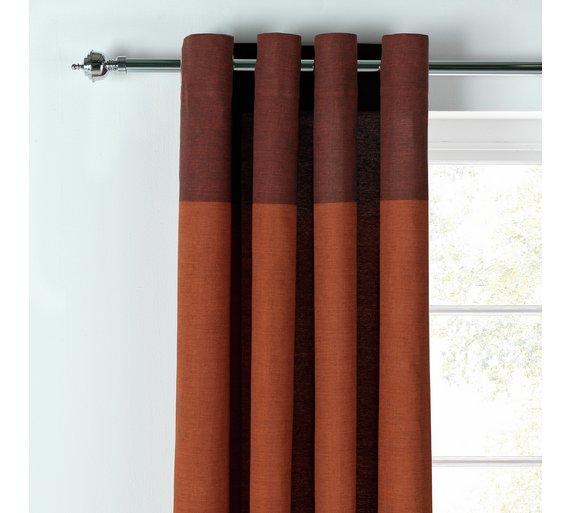 Argos Home Dublin Unlined Eyelet Curtains- 117x183cm - Brick Free C&C £5.99