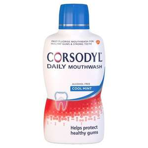 Corsodyl Daily Gum Care Mouthwash with Fluoride, Cool Mint, 500 ml amazon pantry 2.99 delivery applies 10% voucher available