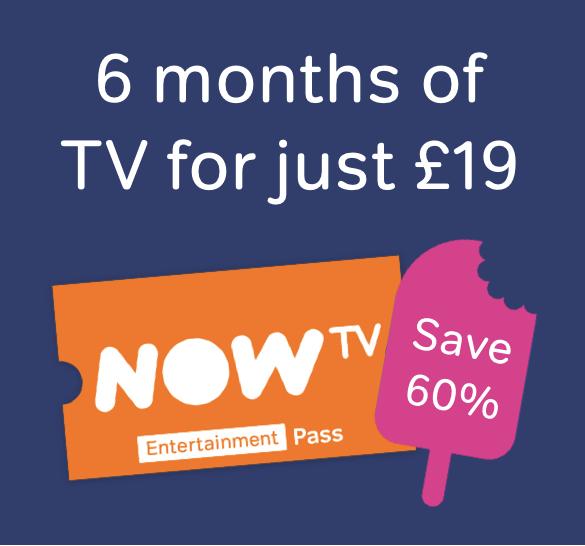 6 months Now TV Entertainment £19 @ NowTV