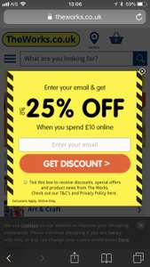 Upto 25% Off at The Works - today only