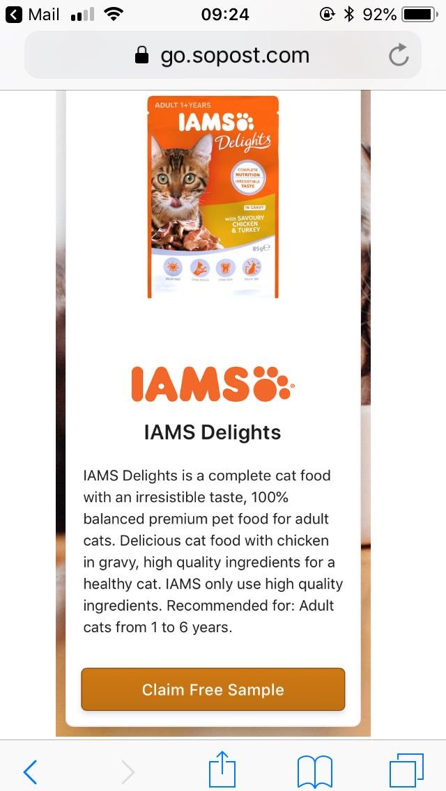 Free Iam's cat delights via SoPost