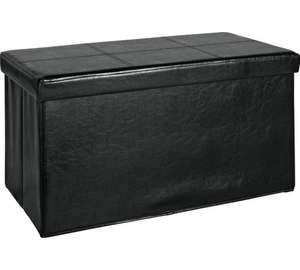 Large faux Leather Ottoman with Stitch Detail - Argos - £15.99 + £3.95 postage of free click and collect