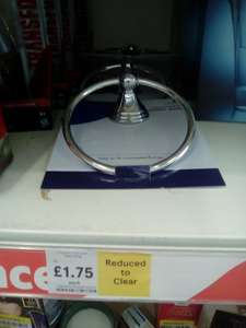 Westminster towel ring holder now £1.75 was £7 @ Tesco ( instore Clowne )