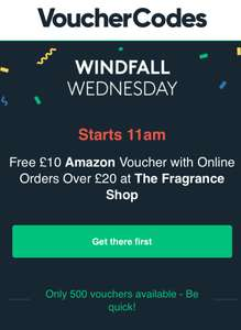 Free £10 Amazon Voucher with a £20+ spend at fragrance shop