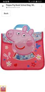 Peppa Pig Book Bag £4.49 Free delivery @ Amazon sold by ramsdensdirect