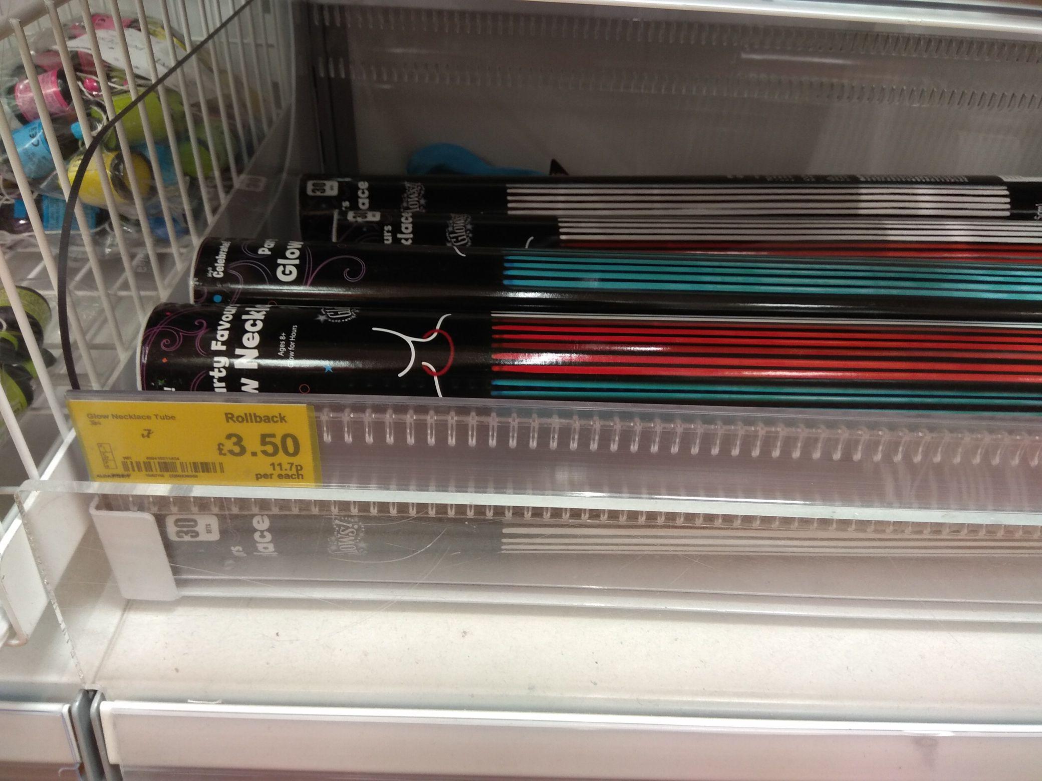 30 x Party Favours Glow Necklaces light sticks Large 55cm - £3.50 @ Asda Living