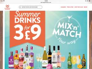 3 for £9 on a range of summer drinks at hungry horse - Mix and match.