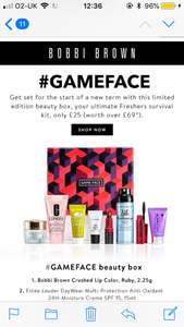Limited addition Bobbi Brown beauty box £25
