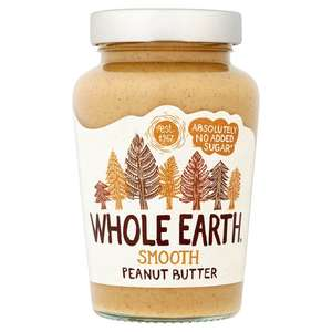 Whole Earth Smooth Peanut Butter 454g - £2 at Tesco