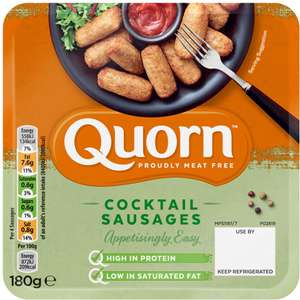 Quorn Meat Free Cocktail Sausages (180g)  4 Packs For £1 @ Heron Foods