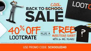 BACK TO COOL SALE at Loot Crate 40% off