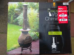 Very large Chiminea *in store* & B&M reduced from £70 - £50 now to £30