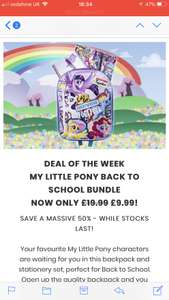 My little pony back to school essentials at IWOOT for £9.99(pre-order)