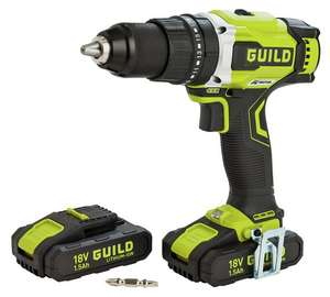 Argos Clearance Guild Cordless Brushless Hammer Drill With 2 18v