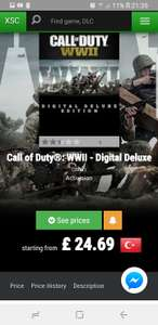 CALL OF DUTY WW2 DIGITAL DELUXE - £24.69 via Turkish Xbox Store