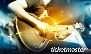 £5 for  £10 ticketmaster e-gift card (50% off) @ groupon.co.uk