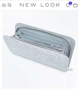 Ladies Pale Blue Glitter Large purse - £6 at new look (+ £3.99 delivery / £2.99 c&c)