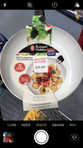 Russell Hobbs eco 24cm ceramic non stick frying pan £4 at B&M