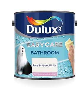 Dulux Easycare Bathroom Soft Sheen Paint, Pure Brilliant White 1L £8.39 (Prime) / £12.88 (non Prime) at Amazon
