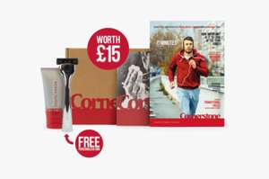 Free personalised shaving kit (RRP £15), just cover delivery £3.95 at Cornerstone