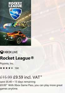 Rocket League £9.59 microsoft store