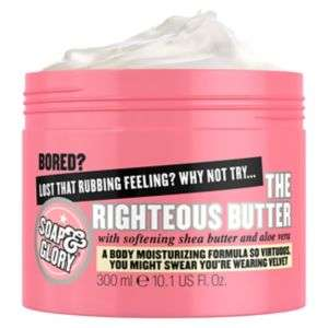 Offer stack - Soap & Glory The Righteous Butter 300ml Now reduced & on 3 for 2 GET 3 for £16 thats almost Half Price BACK IN STOCK @ Boots