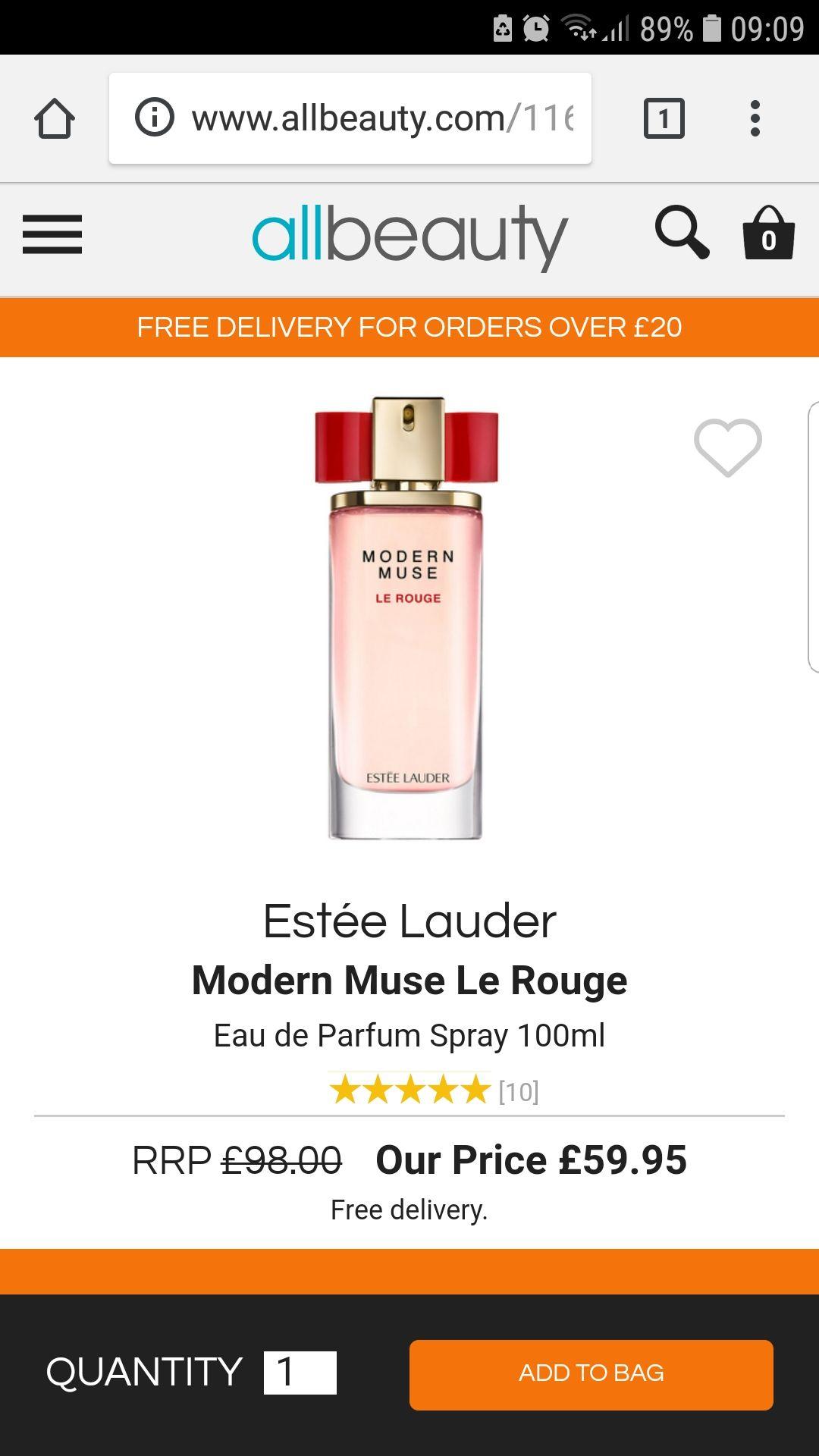 Estee Lauder Modern Muse Le  Rouge £100 ML £59.95 @ All beauty
