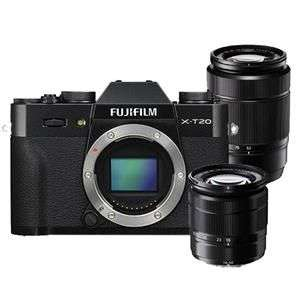 Fujifilm X-T20 Mirrorless Camera Body in Black with XC16-50mm and 50-230mm Lens £989 at Jessops