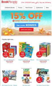 Book People flash discount 15% off