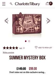 Charlotte Tilbury Mystery Box of MakeUp £99