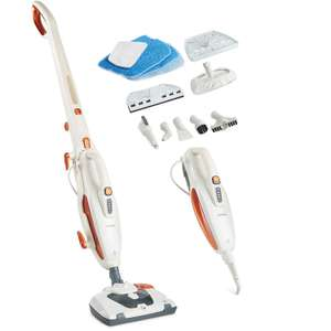 Vonhaus 2 in 1 handheld / upright steam cleaner & mop with 10 attachments & 2 year warranty £29.99 delivered with code @ Domu