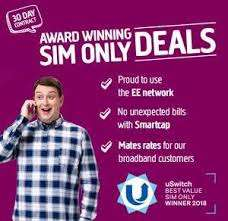 6GB 4G Data - 2500 Minutes - Unlimited Texts - 30 Days Sim £10 @ Plusnet Mobile (uSwitch)