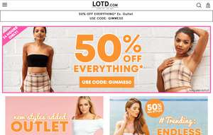 LOTD 50% off everything except sale items - £2.99 Delivery - Free Returns