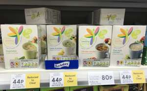 Tesco Healthy Living Soup in A Mug pack of 5 reduced to 44p instore - choice of 3 flavours ... see below ...