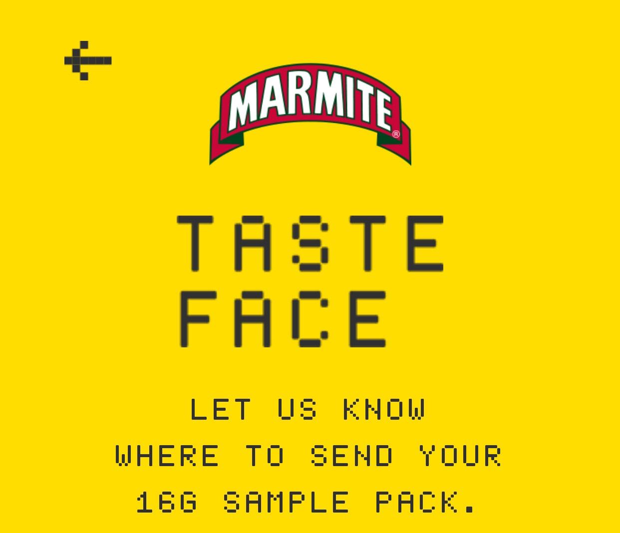 Free Marmite 16g sample