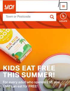 Kids eat free with every adult spending £10+ @ Yosushi ( till 2nd September )