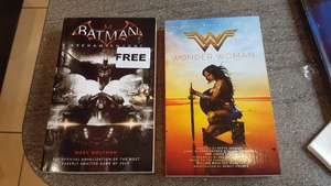 FREE paperback batman arkham Knight and Wonder woman books at Forbidden Planet