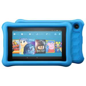 """2x Amazon Fire 7 Kids Edition Tablet with Kid-Proof Case, Quad-core, Fire OS, Wi-Fi, 16GB, 7"""", Blue / Pink / Yellow £159.90 (£79.95 per tablet) w/ 2 Year Guarantee @ John Lewis"""