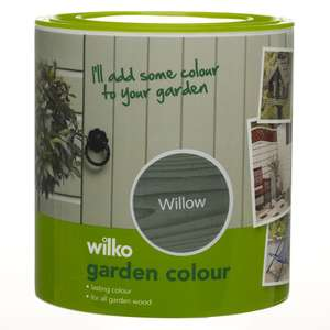 Wilko Garden Colour Paint (Willow) 1L now just £4.50 / 5L £15.00 C&C at Wilko