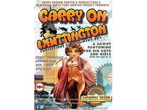 2 x Carry on Whittington - Panto on the Pier (Blackpool) Tickets @ £5.50 (RRP £22)