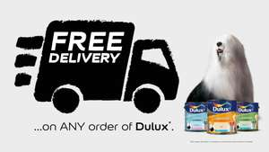 Free delivery on all orders from Dulux