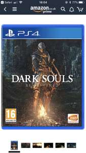 Dark Souls Remastered PS4 and XB1 at Amazon for £21.99